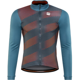 Sportful Moire Thermal LS Jersey Men blue stellar/red fluo